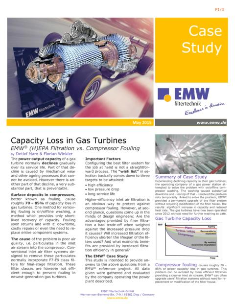 Gas Turbine Air Filters: Performance Upgrade For Gas Turbines