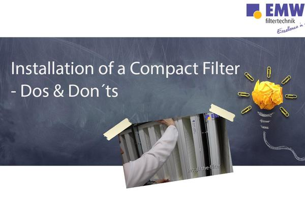 Installation Compact Filter